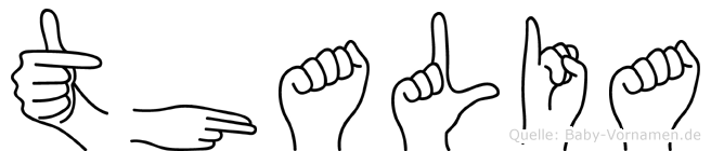Thalia im Fingeralphabet der Deutschen Gebärdensprache