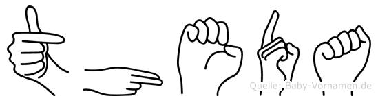 Theda in Fingersprache für Gehörlose