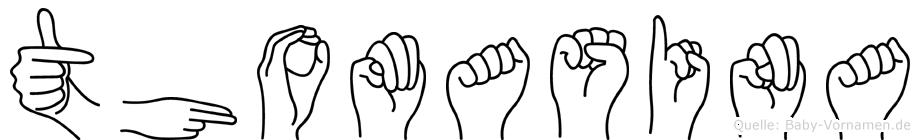 Thomasina in Fingersprache für Gehörlose