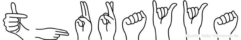 Thurayya im Fingeralphabet der Deutschen Gebärdensprache