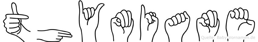 Thymiane im Fingeralphabet der Deutschen Gebärdensprache