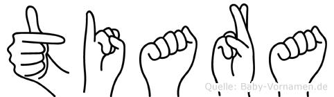 Tiara in Fingersprache für Gehörlose