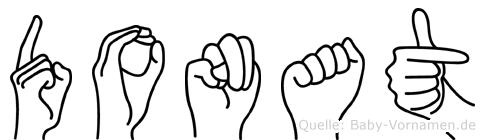 Donat im Fingeralphabet der Deutschen Gebärdensprache