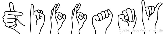 Tiffany im Fingeralphabet der Deutschen Gebärdensprache