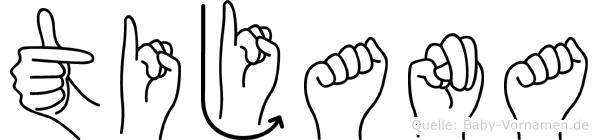 Tijana im Fingeralphabet der Deutschen Gebärdensprache
