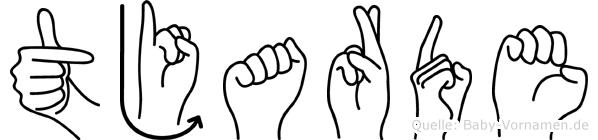 Tjarde in Fingersprache für Gehörlose