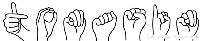 Tomasin im Fingeralphabet der Deutschen Gebärdensprache