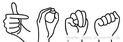 Tona in Fingersprache für Gehörlose