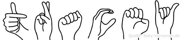 Tracey im Fingeralphabet der Deutschen Gebärdensprache