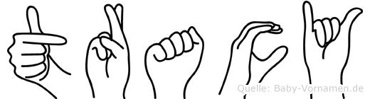 Tracy im Fingeralphabet der Deutschen Gebärdensprache