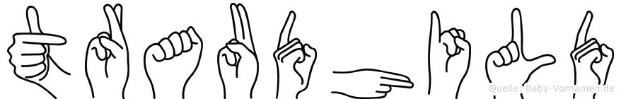 Traudhild im Fingeralphabet der Deutschen Gebärdensprache