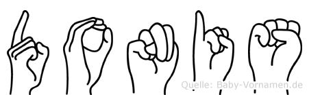 Donis im Fingeralphabet der Deutschen Gebärdensprache