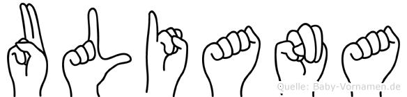 Uliana in Fingersprache für Gehörlose