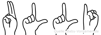 Ulli im Fingeralphabet der Deutschen Gebärdensprache