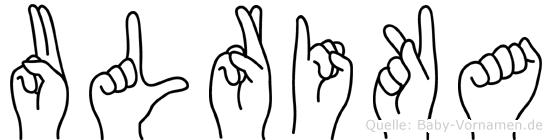 Ulrika in Fingersprache für Gehörlose