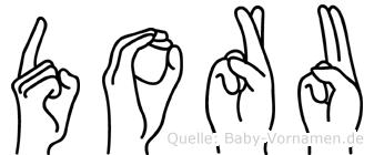 Doru im Fingeralphabet der Deutschen Gebärdensprache