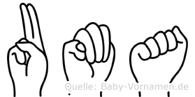 Uma in Fingersprache für Gehörlose