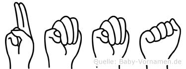 Umma in Fingersprache für Gehörlose