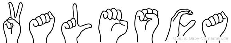 Valesca in Fingersprache für Gehörlose
