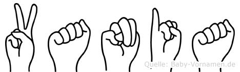 Vania im Fingeralphabet der Deutschen Gebärdensprache