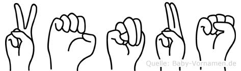 Venus in Fingersprache für Gehörlose