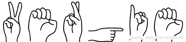 Vergie im Fingeralphabet der Deutschen Gebärdensprache