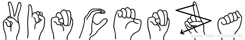 Vincenza im Fingeralphabet der Deutschen Gebärdensprache