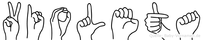 Violeta im Fingeralphabet der Deutschen Gebärdensprache