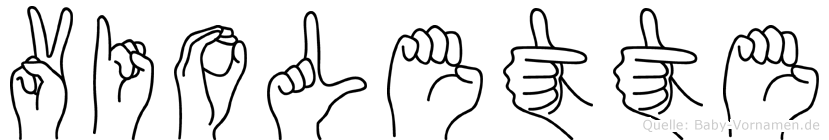 Violette im Fingeralphabet der Deutschen Gebärdensprache