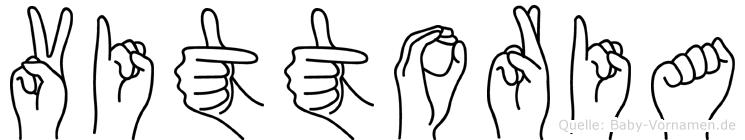 Vittoria im Fingeralphabet der Deutschen Gebärdensprache