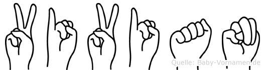 Vivian in Fingersprache für Gehörlose