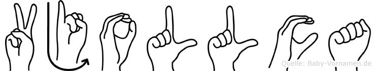 Vjollca in Fingersprache für Gehörlose