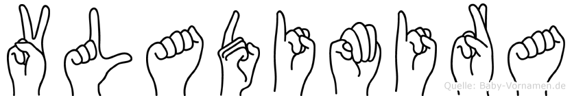 Vladimira in Fingersprache für Gehörlose