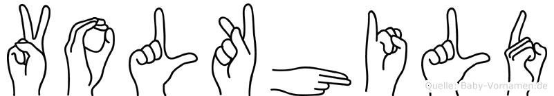 Volkhild im Fingeralphabet der Deutschen Gebärdensprache