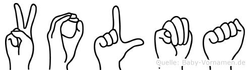 Volma im Fingeralphabet der Deutschen Gebärdensprache