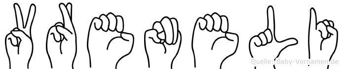 Vreneli in Fingersprache für Gehörlose