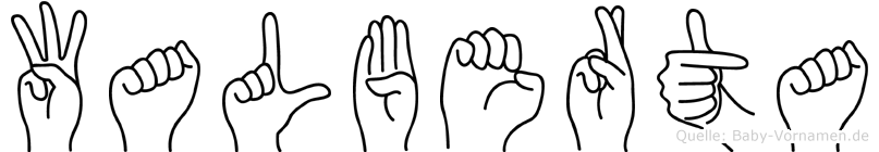 Walberta in Fingersprache für Gehörlose
