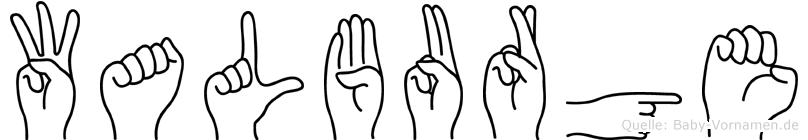 Walburge in Fingersprache für Gehörlose