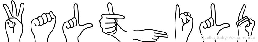 Walthild in Fingersprache für Gehörlose