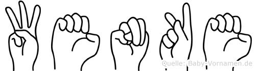 Wenke im Fingeralphabet der Deutschen Gebärdensprache