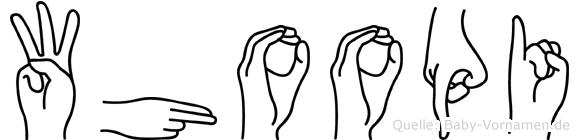 Whoopi in Fingersprache für Gehörlose