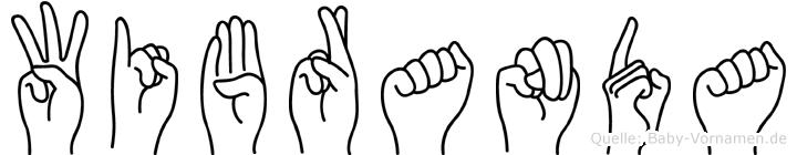 Wibranda im Fingeralphabet der Deutschen Gebärdensprache