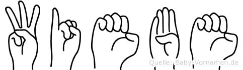 Wiebe im Fingeralphabet der Deutschen Gebärdensprache