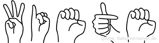 Wiete in Fingersprache für Gehörlose