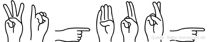 Wigburg im Fingeralphabet der Deutschen Gebärdensprache