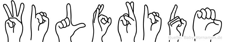 Wilfride im Fingeralphabet der Deutschen Gebärdensprache