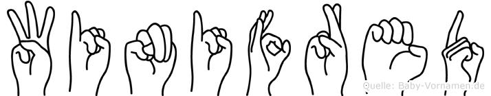 Winifred im Fingeralphabet der Deutschen Gebärdensprache