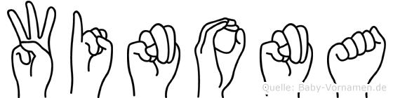 Winona im Fingeralphabet der Deutschen Gebärdensprache