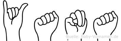 Yana im Fingeralphabet der Deutschen Gebärdensprache