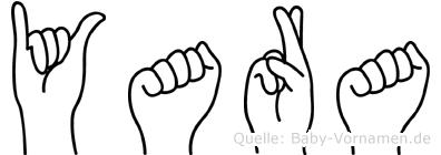 Yara in Fingersprache für Gehörlose